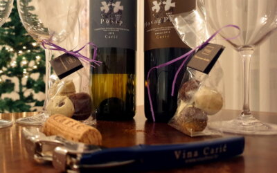 Zoom radionica  s vinima Carić i mirisima čokoladnih tartufa Gamulin!