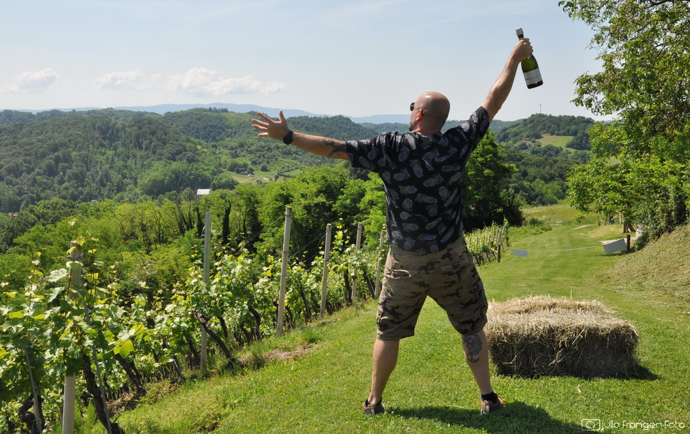 Pjenušavi zagorski doručak u vinogradu vinarije Petrač